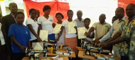 Conflcit affected girls receiving start up kits