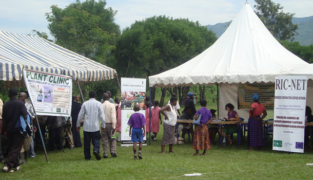 RICNET stall at a symposium in Kisinga
